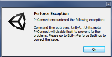 Perforce Exception